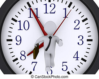 funzionamento uomo affari, a, presa, il, tempo