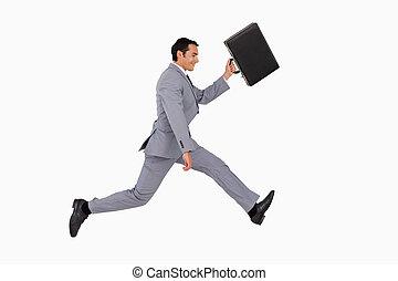 funzionamento uomo affari, valigia