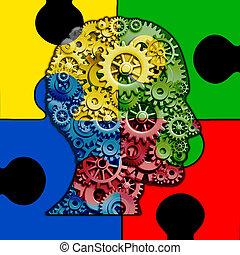 funzione, cervello, autism