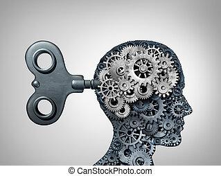 funzione, cervello, simbolo