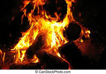 fuoco, 1, campeggiare