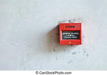 fuoco, allarme