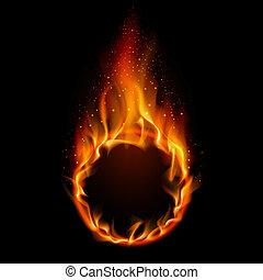 fuoco, anello