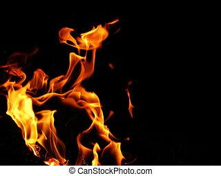 fuoco, angolo