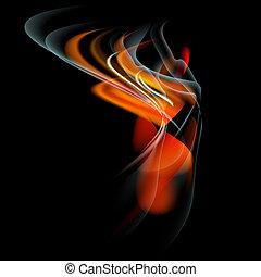fuoco, astratto, bruciatura, vettore, fiamma, fondo
