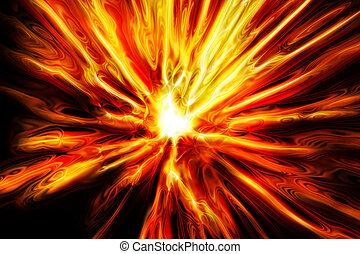 fuoco, astratto, esplosione, struttura
