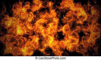 fuoco, astratto, fiamma, fondo