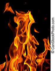 fuoco, astratto, fiamme