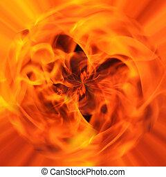 fuoco, astratto, fondo