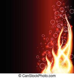 fuoco, astratto, fondo, vettore, illustrazione