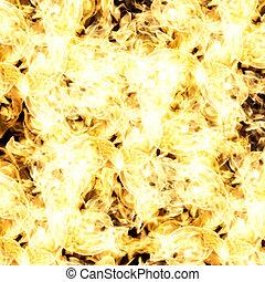 fuoco, astratto, sfondo nero, fiamme