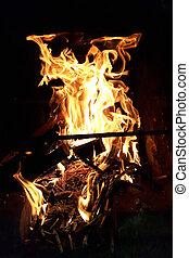 fuoco, astratto, struttura