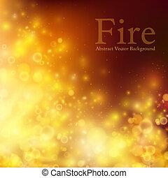 fuoco, astratto, vettore, bokeh., fondo