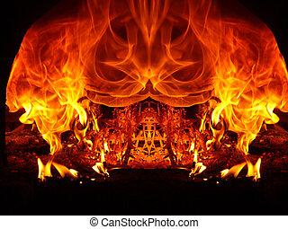 fuoco, astrazioni