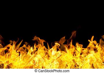 fuoco, bandiera, bordo, forma, fiamme