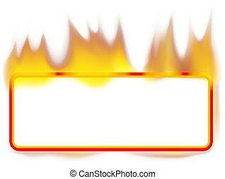 fuoco, bandiera, -, rettangolo