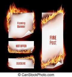 fuoco, bandiere