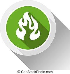 fuoco, bottone, fiamme
