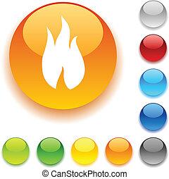 fuoco, button.