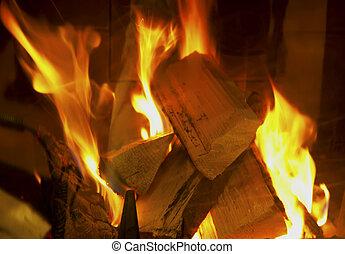 fuoco, caminetto