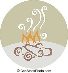 fuoco, campeggiare, disegno