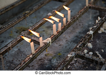 fuoco, candela, bianco