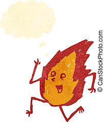 fuoco, carattere, cartone animato