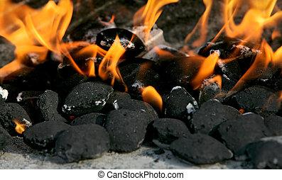 fuoco, carbonella