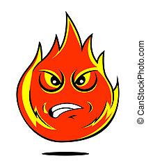 fuoco, cartone animato