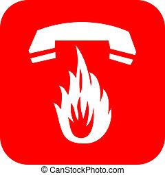 fuoco, chiamata, emergenza