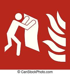 fuoco, coperta, segno