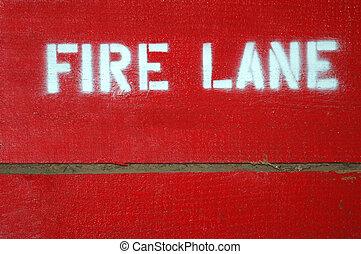 fuoco, corsia