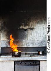 fuoco, cucina