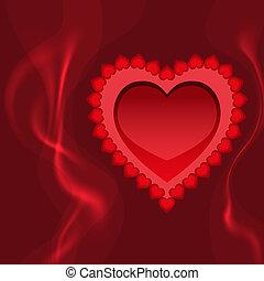 fuoco, cuore, amore, fiammeggiante