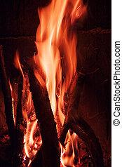 fuoco, dettaglio