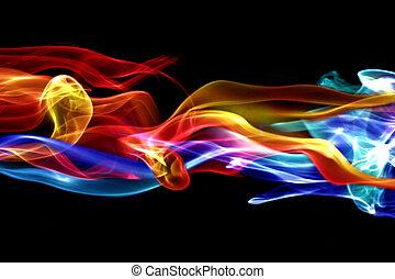 fuoco, disegno, ghiaccio, &