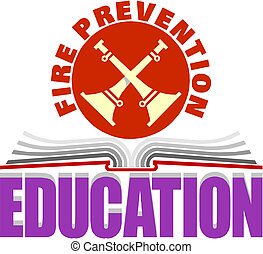 fuoco, educazione, prevenzione, segno