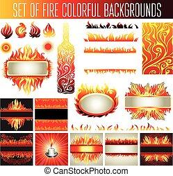 fuoco, elementi, disegno