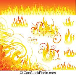 fuoco, elementi
