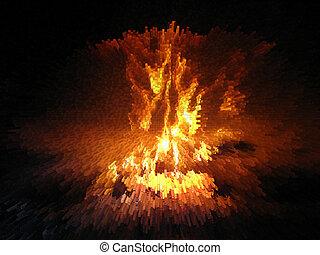 fuoco, esplosione