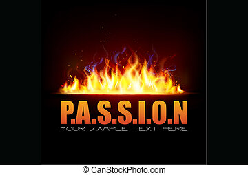 fuoco, fiamma, esposizione, passione