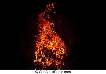 fuoco, fiamma, urente, fondo