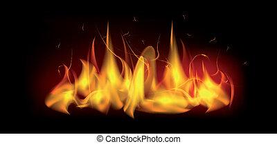fuoco, fiamma, urente