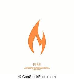 fuoco, flames., icon.