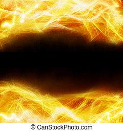 fuoco, fondo, astratto