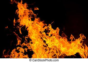fuoco, isolato, fiamme