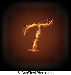 fuoco, lettera