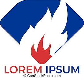 fuoco, logotipo, fiamma, design.