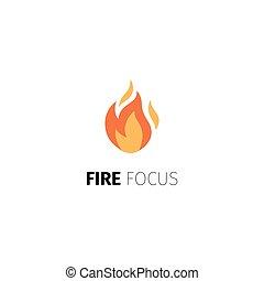fuoco, logotipo, fuoco, sagoma