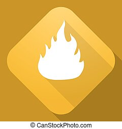 fuoco, lungo, segno, vettore, uggia, icona